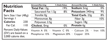 nutrition cashew cookies