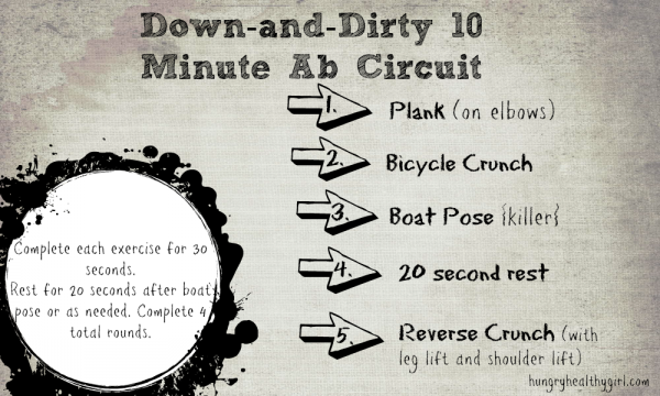 Down And Dirty 10 Minute Ab Circuit See Instructions Of Each Workout On