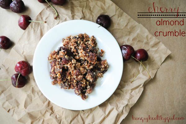 Cherry Almond Crumble {vegan, gluten-free, and paleo}