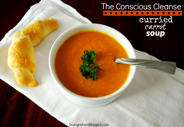 The Conscious Cleanse Curried Carrot Soup