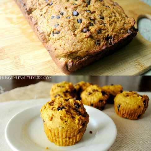 Chocolate Chip Pumpkin Bread (2 ways)