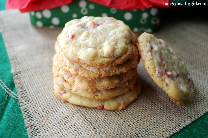 Peppermint Crunch Christmas Cookies | Hungry Healthy Girl