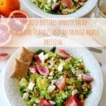 Shredded Brussels Sprouts Salad with Blood Oranges and an Orange Maple Dressing