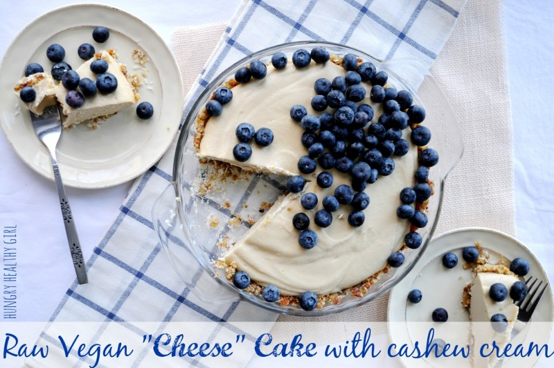 "Raw Vegan ""Cheese"" Cake made with cashew cream 
