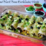 Chicken and Black Bean Enchiladas Verde