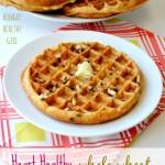 Heart Healthy Whole Wheat Chocolate Chip Banana Waffles