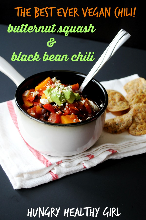 vegan chili, with delightful flavors from sweet squash to spice from ...