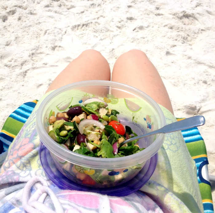 Lunch on the beach in Destin, Florida!