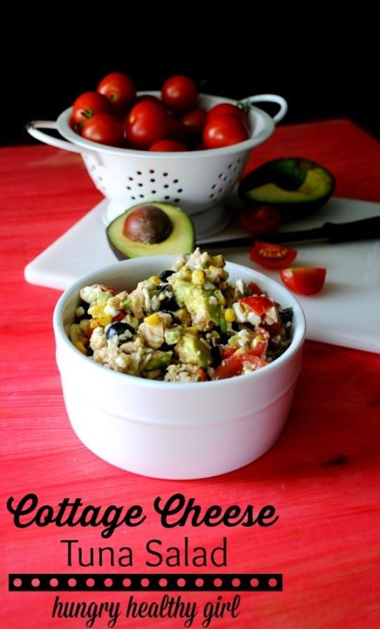 Cottage Cheese Tuna Salad - Kim's Cravings