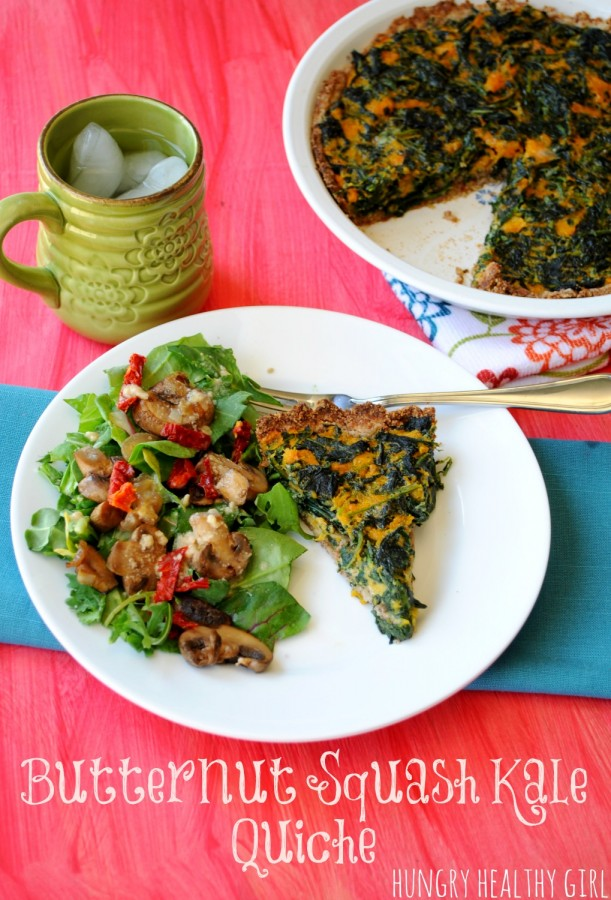 Butternut Squash Kale Quiche