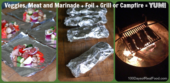 Grilled Meat and Veggie Foil Packets