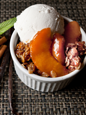 Grilled Peach Cinnamon Crisp