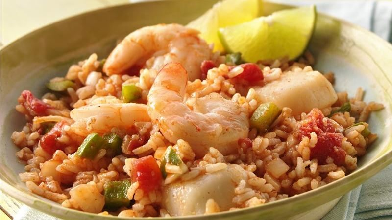 Grilled Seafood Jambalaya Packs