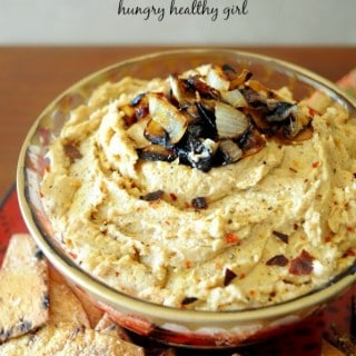 Caramelized Onion Hummus and National Olive Oil Month