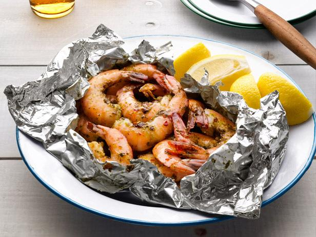 Grilled Shrimp in Foil