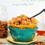 Apple Maple Oatmeal in the Slow Cooker