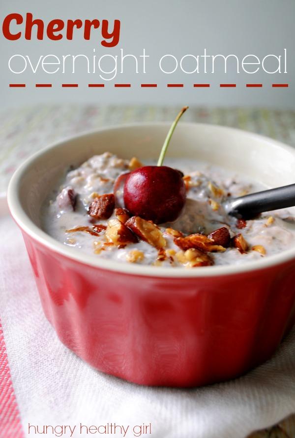cherry overnight oatmeal