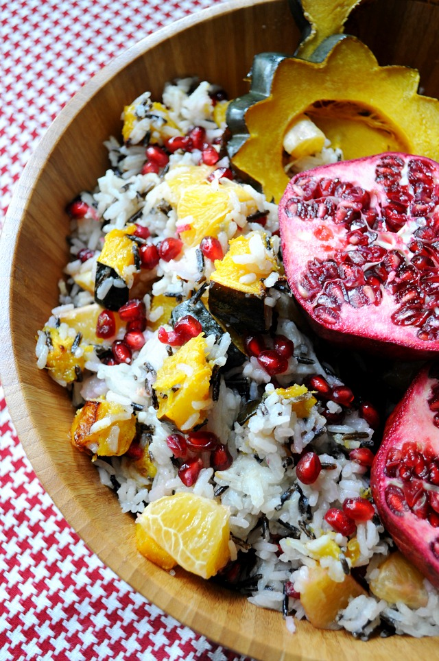 Winter Wild Rice Salad with Roasted Squash, Pomegranate ...