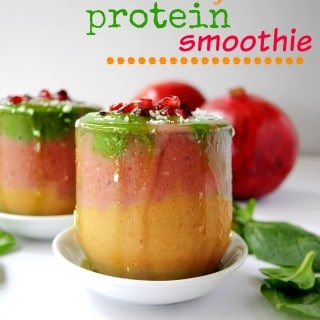 Vegan Pomegranate Orange Protein Smoothie