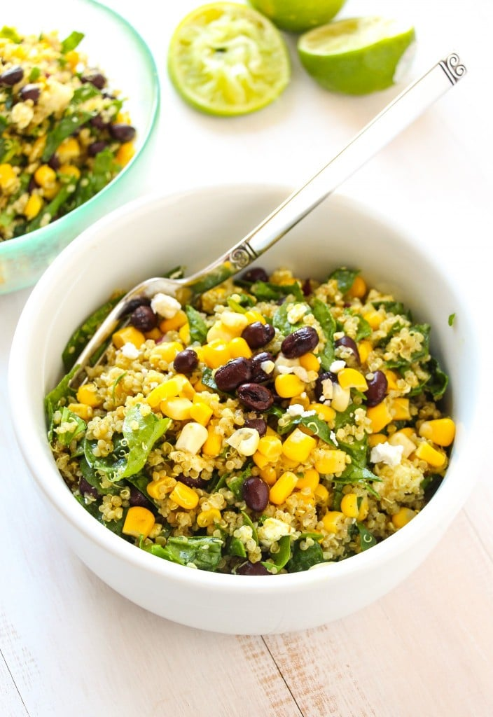 Tex-Mex Black Bean Corn Quinoa Salad by Layers of Happiness