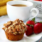 Strawberry Banana Muffins with Oat Streusel Topping
