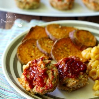 Skinny Mini Meat Loaves with Sweet Potato Coins