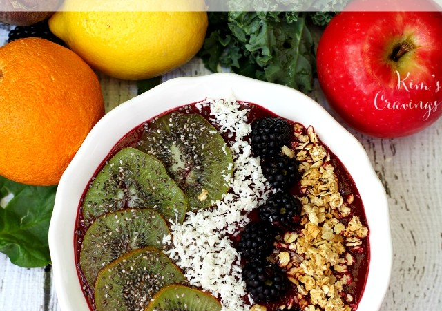 Summer Citrus Detox Smoothie Bowl- lusciously creamy, satisfying and delicious creation of goodness to be enjoyed with your favorite vitamin-rich toppings!