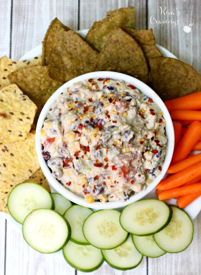 Skinny Mexican Cottage Cheese Dip - Kim\u0026#39;s Cravings