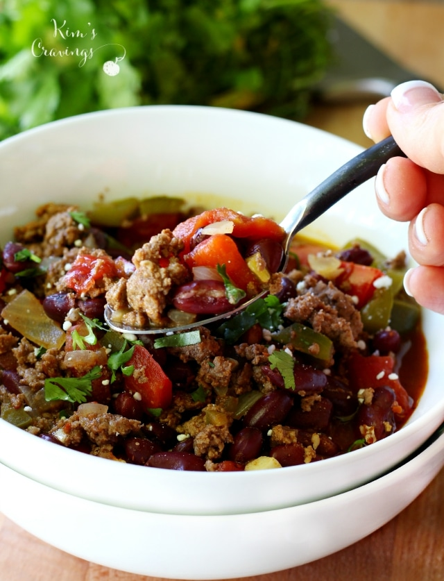 """Clean Eating Bison Chili is so easy to make and so mouthwatering, your tastebuds will dance! This nutritious meal choice is filling, full of flavor and perfect for those picky """"meat and potato"""" people that are easing into healthier eating."""