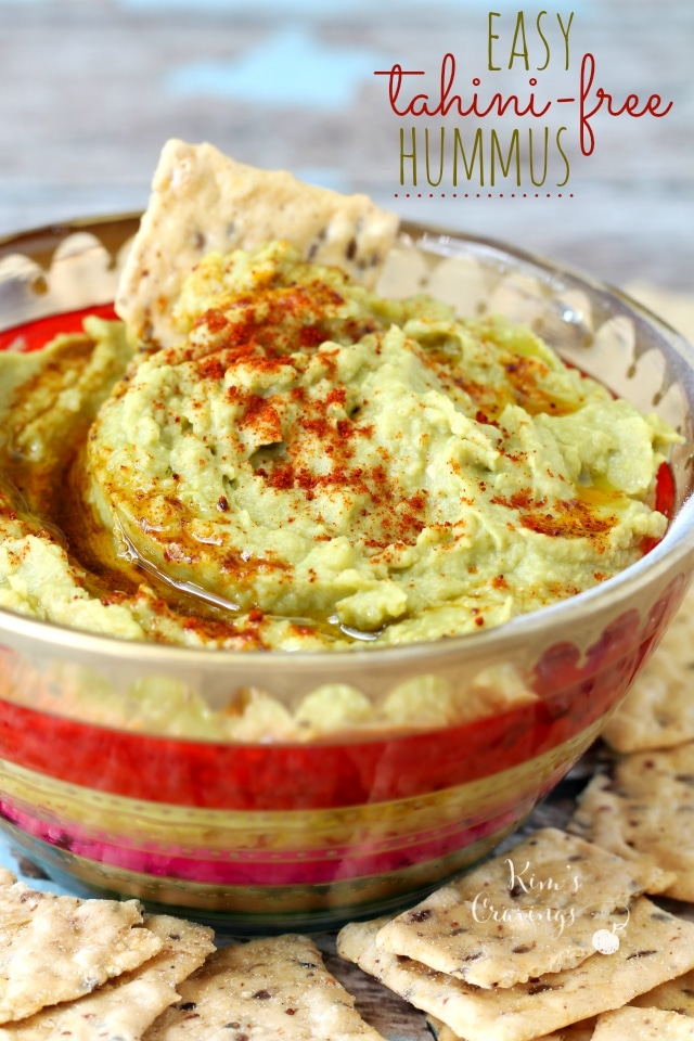 With this easy tahini-free hummus recipe, you don't need tahini to create a super flavorful hummus dip!!!