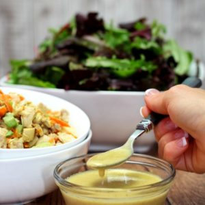 Healthier Honey Mustard Salad Dressing- my salad's new best friend- quick, easy and delicious!