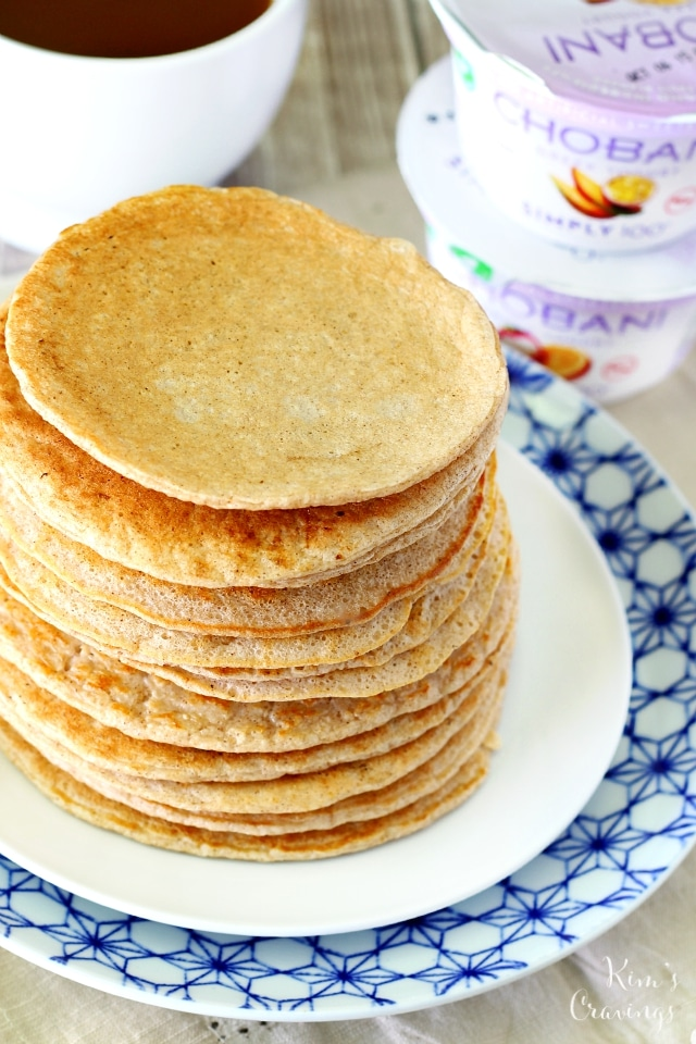 These gluten-free Greek Yogurt Oat Pancakes are hearty and satisfying. They're packed with over 30 grams of protein without an ounce of protein powder, making them the perfect pre/post workout fuel.