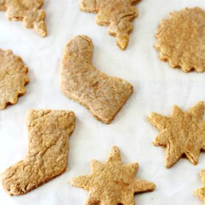 Under 100 calories per cookie and baked with wholesome ingredients, there's no need to feel guilty gobbling up more than a few skinny sugar cookies! (vegan & dairy-free)