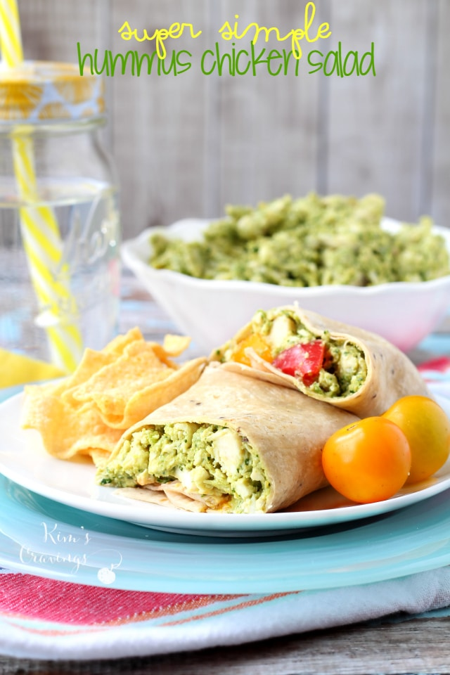 Super Simple Hummus Chicken Salad- such an easy, light and healthy ...