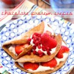 Chocolate Protein Crepes filled with Greek yogurt and fruit is a delicious protein-packed breakfast that will fuel you right up until lunch!