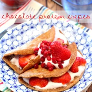 Chocolate Protein Crepes + Vitamin Shoppe Giveaway