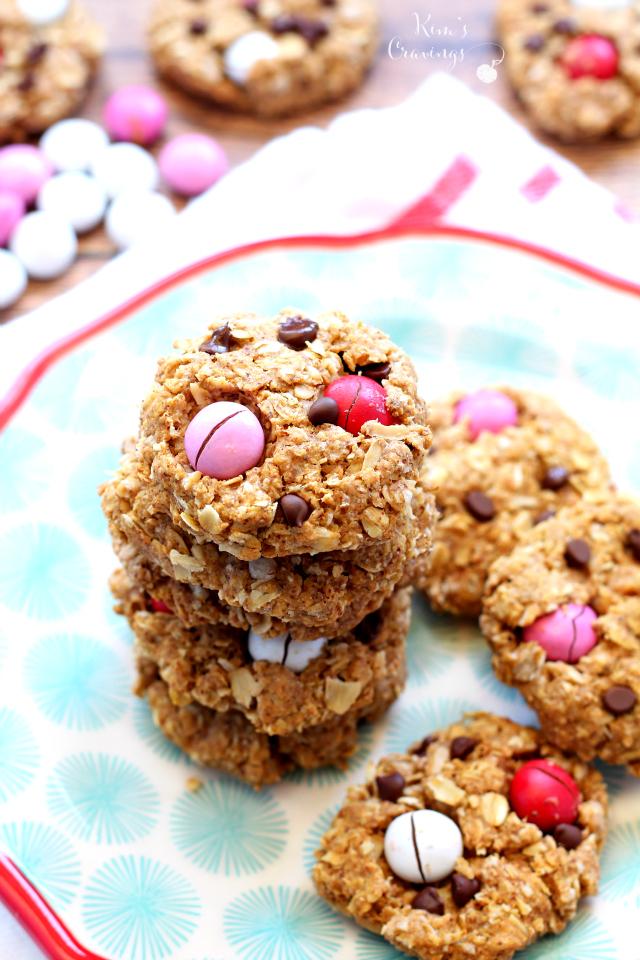 Healthier Flourless Monster Cookies Kim S Cravings