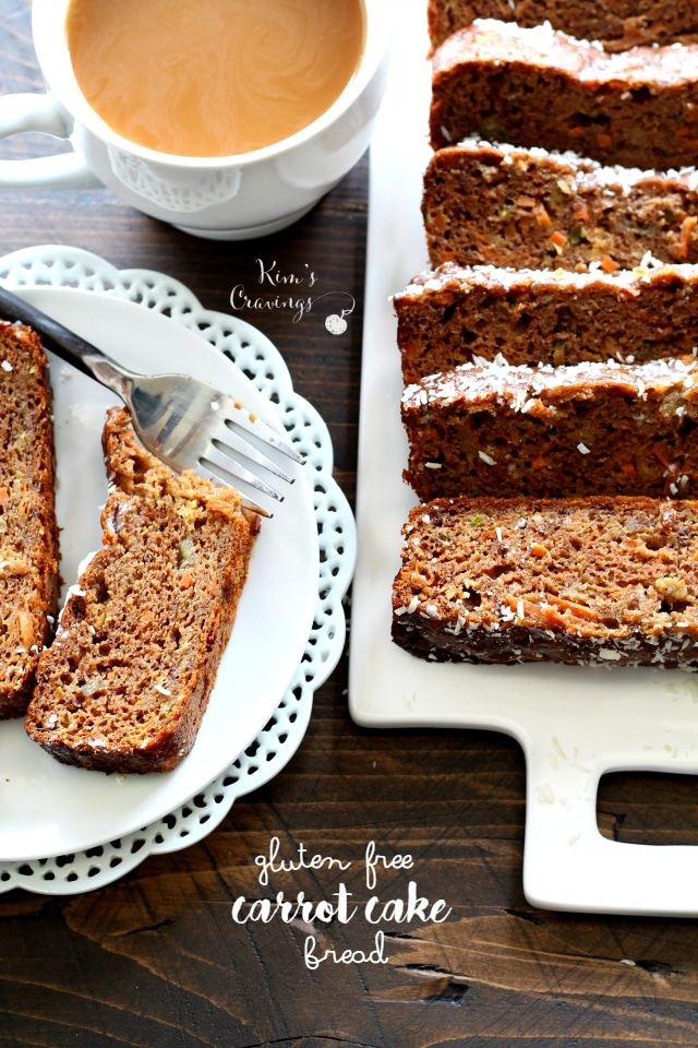 Gluten Free Carrot Cake Bread- the delicious classic carrot cake flavor, but made with wholesome ingredients.
