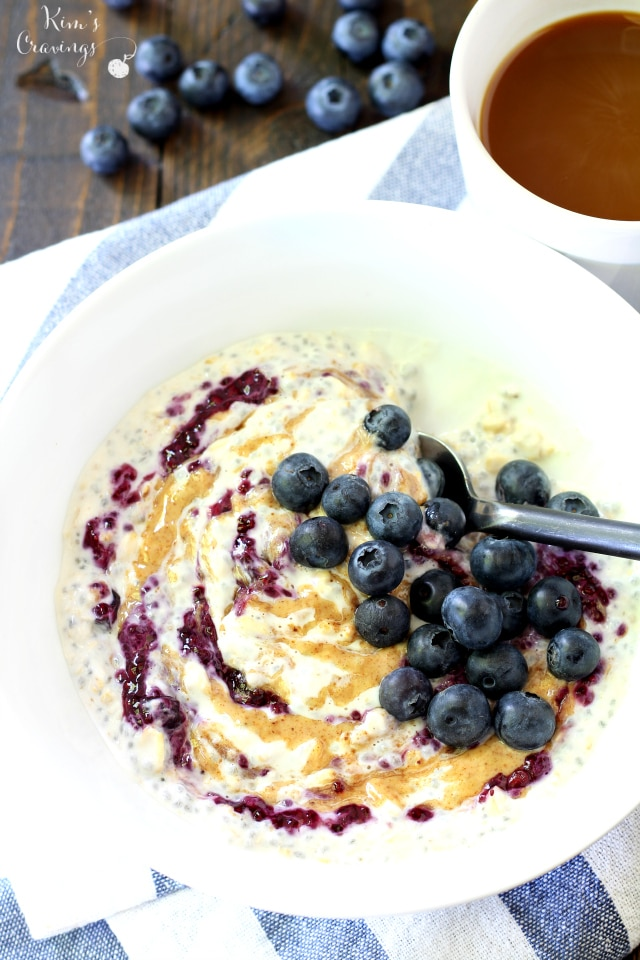 If you think oatmeal is boring, this Peanut Butter & Jelly Overnight Oatmeal is guaranteed to make you see the breakfast favorite in a whole new light!