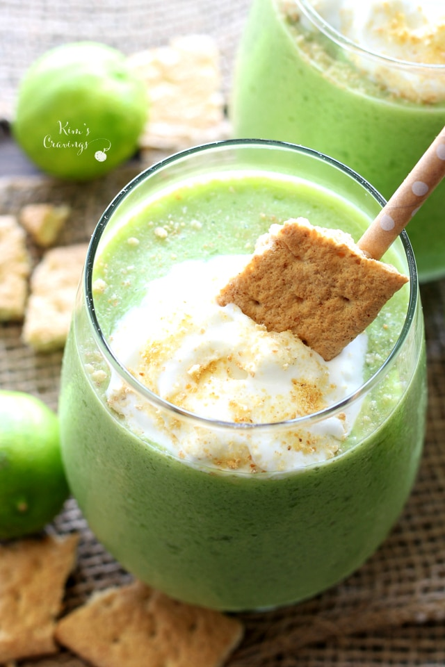 A light refreshing treat, this Key Lime Pie Smoothie is full of good-for-you ingredients and loaded with scrumptious key lime flavor!