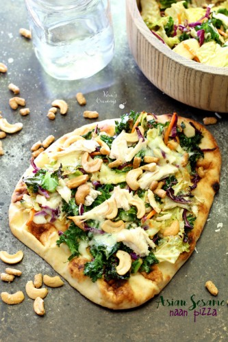 This easy Asian Sesame Naan Pizza is so simple to throw together, but has an amazing flavor that can't be denied!