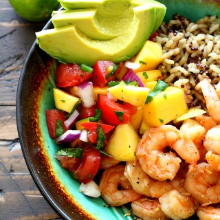 Key West Shrimp Bowls with Mango Salsa