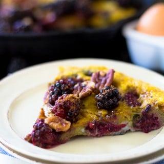 Blackberry Pecan Sweet Frittata