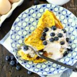 Sweet Omelet with Greek Yogurt and Blueberries