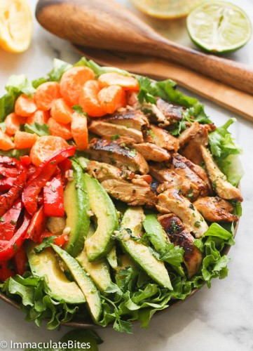 chicken citrus avocado salad