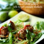 {AD} Asian Lettuce Wraps with Teriyaki Pineapple Meatballs