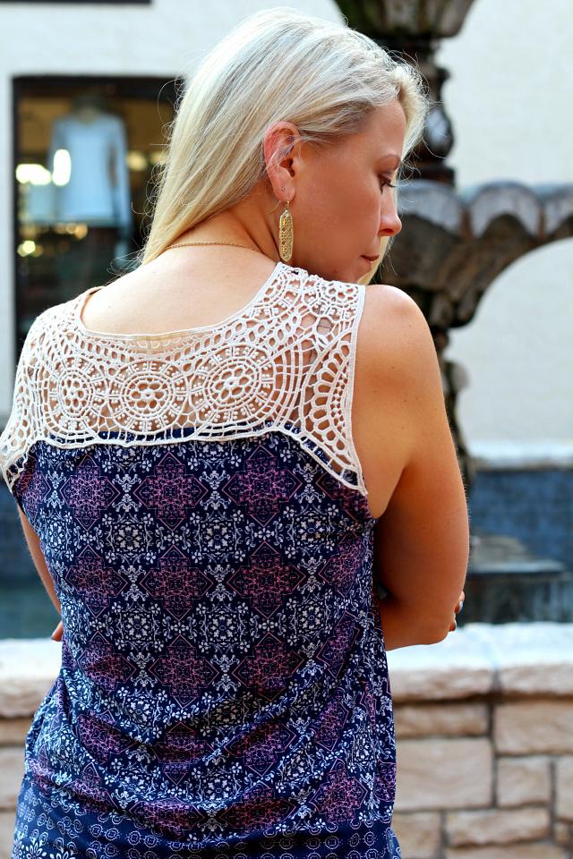 July Stitch Fix- Jayd Crochet Detail Knit Top by Papermoon | XS | 48.00