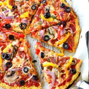 Loaded Pizza on Cauliflower Crust