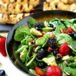 Triple Berry Almond Spinach Salad