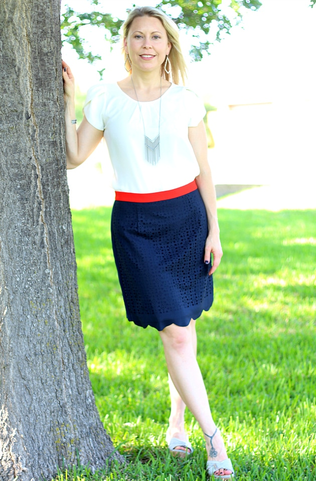 June 2016 Stitch Fix Review- Bastille Tulip Sleeve Blouse by Papermoon